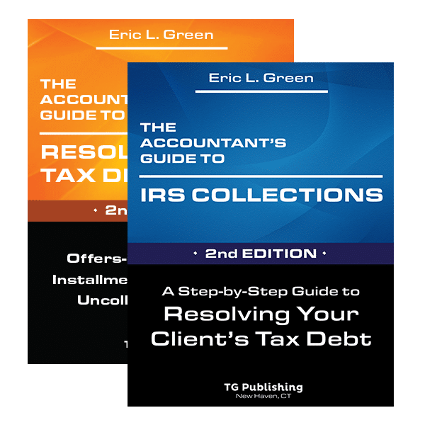 tax professionals books guide to irs collection, guide to resolving tax debts